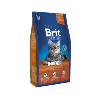 Brit Premium (Брит Премиум) Cat Indoor - Сухой корм с курицей для домашних кошек (8 кг)